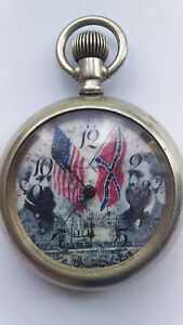 waltham 1905 civil war pocket watch size 8 , 15 jewels