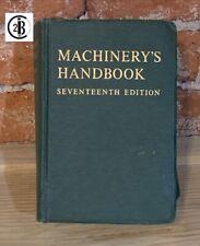 Vintage Machinery's Handbook Seventeenth 17th Edition Oberg and Jones