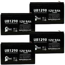4-pack Apc be750g Battery UB1290 12V 9Ah Sealed Lead Acid SLA AGM