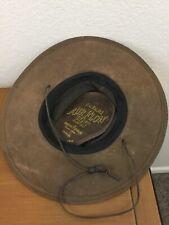 Minnetonka Mens Safari Air Flow Brown Suede Hat Size Med