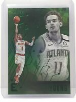 2019-20 Panini Chronicles Essentials Green #205 Trae Young Atlanta Hawks