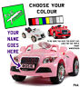 PERSONALISED kids number plate: Audi TT style ride on car toy 6v 12v custom