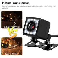 Car Rear View Parking HD Camera Reverse Waterproof Wide LED Night Vision Sensor