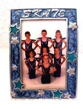 NEW Dasha SKATE Pewter Picture Frame Blue with Stars 4 X 6