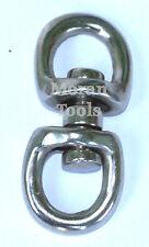 Double Swivel Hook Eye Hoop Clasp Clips Connectors 28mm Outside Dia Zinc Alloy