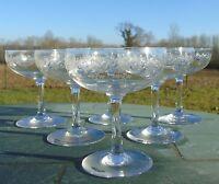 Baccarat - Service de 6 coupes à champagne en cristal, modèle Sévigné