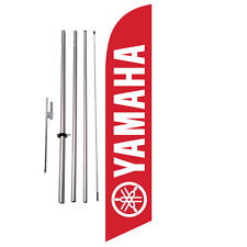 Yamaha (red) Dealership Advertising Feather Banner Swooper Flag Kit + spike