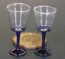 1:12 escala 2 Vasos + Azul Tallo & Base Casa de muñecas en miniatura accesorios GLA45b