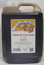 SLUSH SYRUP 4x5 LTR American Cola Slush Incd 200 Spoon Straws