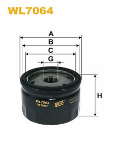 WIX OIL FILTER SPIN ON WL7064 22057107