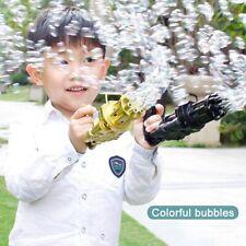 Bubble Gun Toys Summer Automatic Soap Water Bubble Machine Black