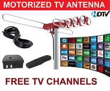 HIGH GAIN UHF VHF DIGITAL HD TV ANTENNA-ROTAR MOTOR MOTORIZED AMPLIFIED 1080P 4K