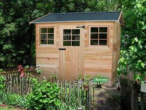 CEDAR SHED HAZEL 9x6ft - 2.7x1.9M Quality premade shed, timber / wooden shed