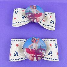 Ancla De Marinero Pin Up Girl arcos del pelo Vintage Rockabilly 50s Náutica Clip Kitsch