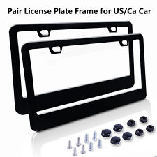 2x Stainless Steel License Plate Frame Tag Cover For Auto Truck For US Ca Car