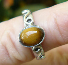 Tiger Eye Sterling Silver Ring Child size 4.5 Natural Gold Gemstone