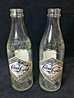 Lot of 2- 1974 75th Anniversary Chattanooga Coca Cola Commemorative Glass Bottle