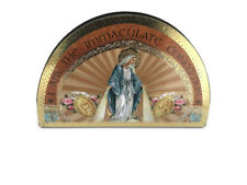OUR LADY MARY GOLD FOIL WOODEN PLAQUE HOLY RELIGIOUS GIFT