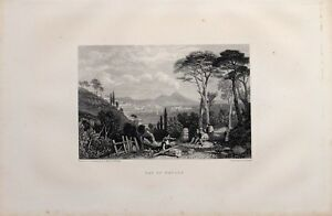 1885 PRINT BAY OF NAPLES