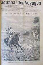 Zeitung der Voyages Nr. 869 von 1894 Abenteurer J.A Sutter Afrika König