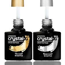 "Crystal-G Brand New ""TOP & BASE COAT Set"" 8ml UV/LED Gel Nail Polish , FREE POST"
