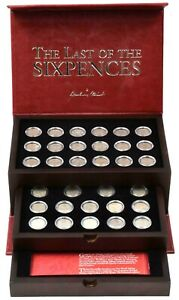 1936 - 1967 The Last of the Sixpences Collection in Coin Case + COAs