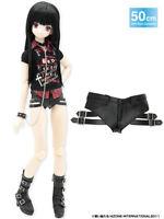 Azone 50cm Side Belt Short Pants Leather Black Yamato VMF50 Obitsu 1/4 BJD MSD