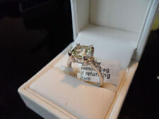 RARE 9K ORTHOCLASE & TOPAZ GOLD RING VERY RARE LOVELY RING