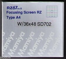 Mamiya RZ PRO IID A4 / CHECKER FOCUSING SCREEN 36x48 for DIGITAL BACKS! (or 6x6)