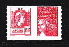 FRANCE AUTOADHESIF N°   43 ( 3716 ) P43, Paire H1 ** MNH, Marianne d'Alger, TB