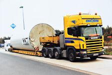 Droste Scania 144G 530 mit 3 achs Tieflader Schwertransport, Poster20x30