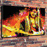 Jimi Hendrix Abstract Printed Canvas Picture Multiple Sizes 30mm Deep Rock