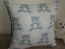 Blue & White Teddy Bear Nursery Cushion Cover Ideal Baby Shower Gift Au Made