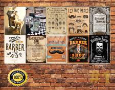 JOB LOT 10 X METAL Tin sign Targa a muro stile vintage barbiere segni #1