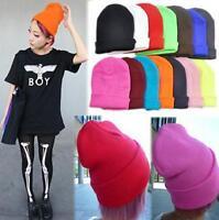 Unisex Candy Color Hip-hop Ski Cap Knit Hat Crochet Beanies Winter Warm Wool Hat