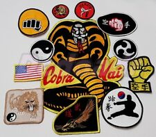 Full Set Karate Kid Replica Cobra Kai Suit Embroidered Patches Johnny Lawrence