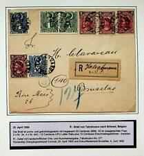 CHILE 1900 CHRISTOPHER COLUMBUS 8v ON REGD COVER TO BELGIUM