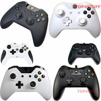 WIRED OR WIRELESS CONTROLLER FOR MICROSOFT XBOX ONE PC WINDOWS, BLACK OR WHITE