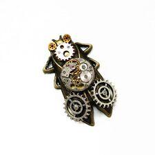 punk rock cicada watch parts collar brooch pins pendant chain men women jewelry