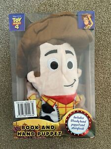 Toy Story 4 Woody Doll Book and Hand Puppet