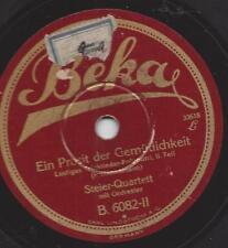 Harry Steier Quartett 1929  : Ein Prosit der Gemütlichkeit - Trinklieder