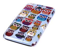 Schutzhülle f HTC One X XL Tasche Case Cover Schale Owl kleine Eule bunt süß