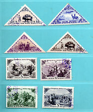 RUSSIA TOUVA TUVA TANNU LOT OF 8 STAMPS 163