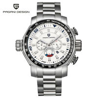 Luxury PAGANI DESIGN Stainless Steel Band Waterproof Chronograph Men's Watch Box