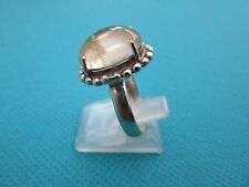 925 Sterling Silver Ring With Natural Pale Morganite UK Q, US 8.25 (rg0161)