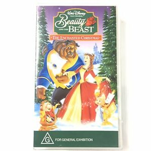 Walt Disney Beauty And The Beast The Enchanted Christmas VHS Video Tape