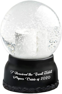 Christmas Snow Globe Hilarious Toilet Paper Snow Globe I Survived The Great of