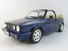 VW GOLF 1 CABRIO 1989 bleu métallique, modèle de voiture 1:18 / NOREV