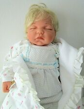 """Lee Middleton """"Sound Asleep"""" 21"""" Baby Doll By Reva Schick Weighted Sgnd/Numbered"""