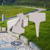 100pcs 6 x10cm Plastic Plant T-type Tags Markers Nursery Garden Labels Gray JF#E